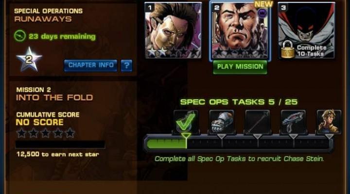 Avengers Alliance Spec Ops 25 Task List for Runaways