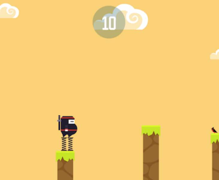 Spring Ninja app for iPhone with 1000 high score