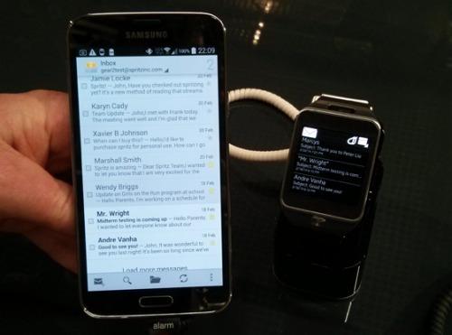 Spritz will also work with Samsung's Gear 2 watch