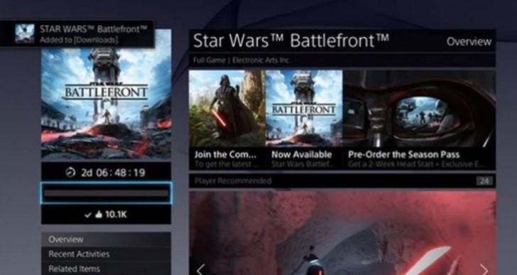 Star Wars Battlefront preload joy on PS4, Xbox One, PC