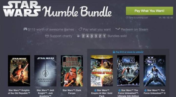 Star Wars Humble Bundle game list excites fans