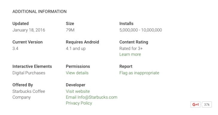 Starbucks app update by Feb 17, new version missing