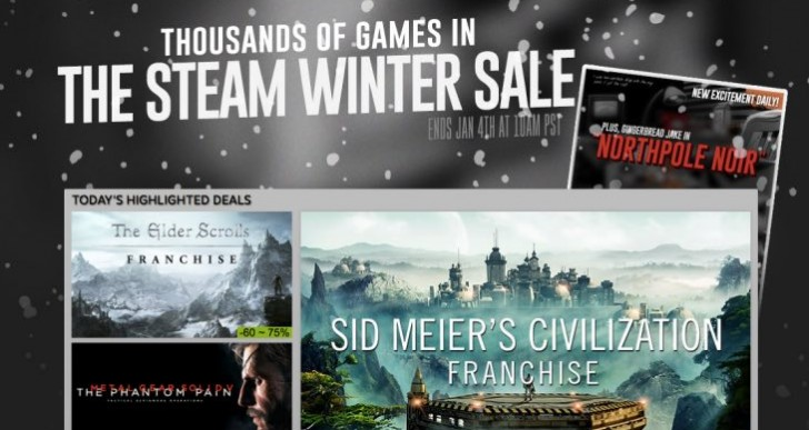 Steam Winter Sale with The Witcher 3, Phantom Pain today