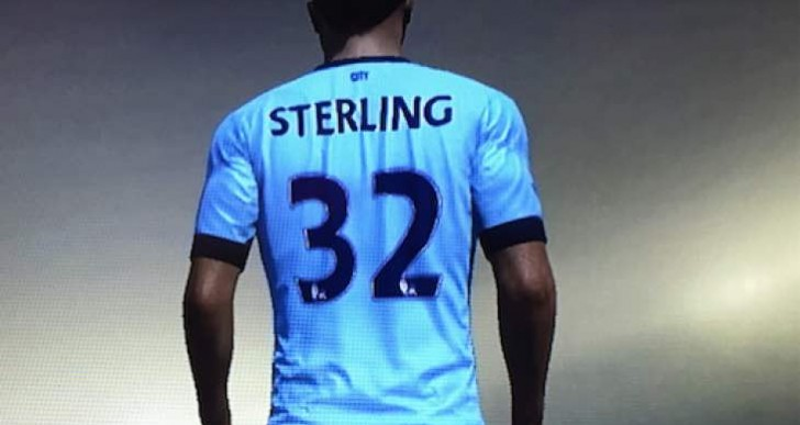 Raheem Sterling in Man City shirt tempts fate on FIFA