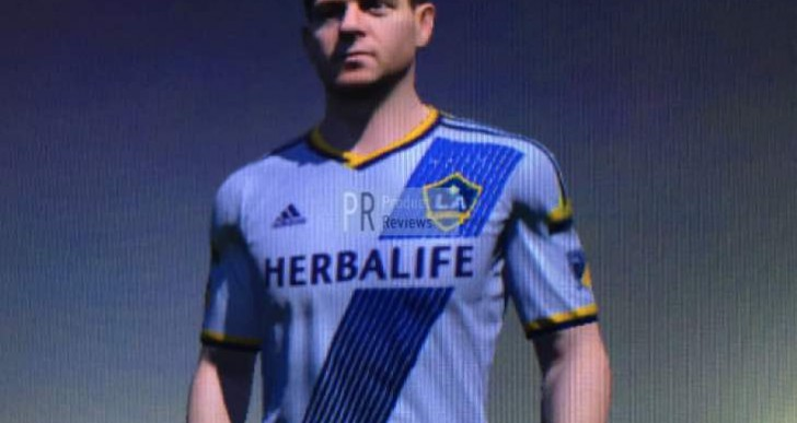 Steven Gerrard in LA Galaxy shirt after transfer shock