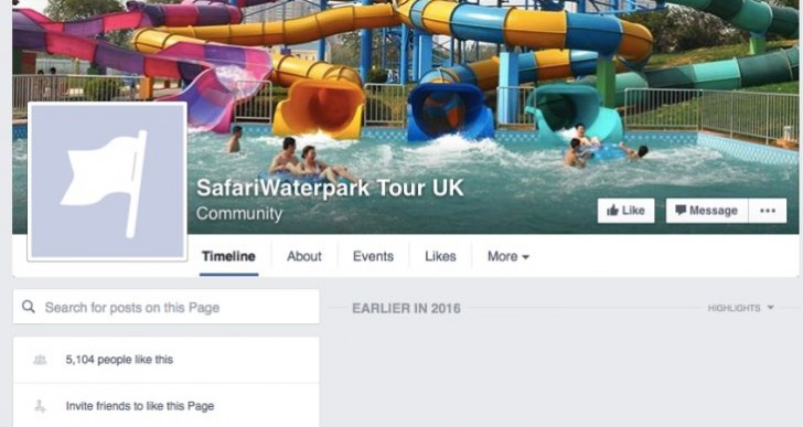 Summer Safari Water Park on Facebook is a scam
