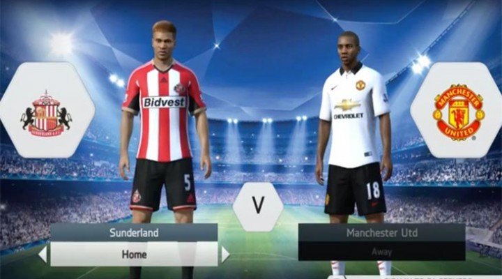 Sunderland vs. Man Utd prediction in FIFA 14