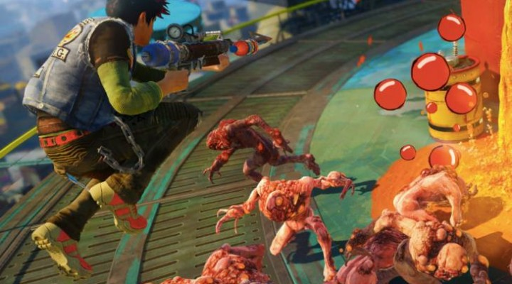Sunset Overdrive first cutscene on Xbox One