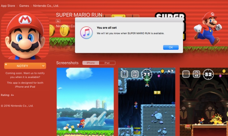 super-mario-run-release-date-time-checker