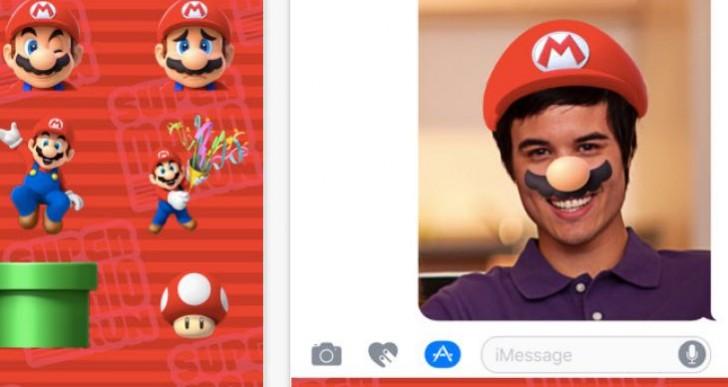 Super Mario Run Stickers for iOS 10, not 9