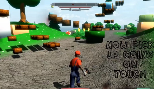 Skyrim Super Mario mod 1.1 joy for PC users