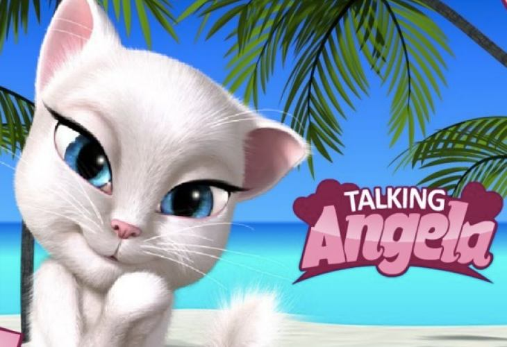 Talking Angela Cat App Stroking In Child Mode Product