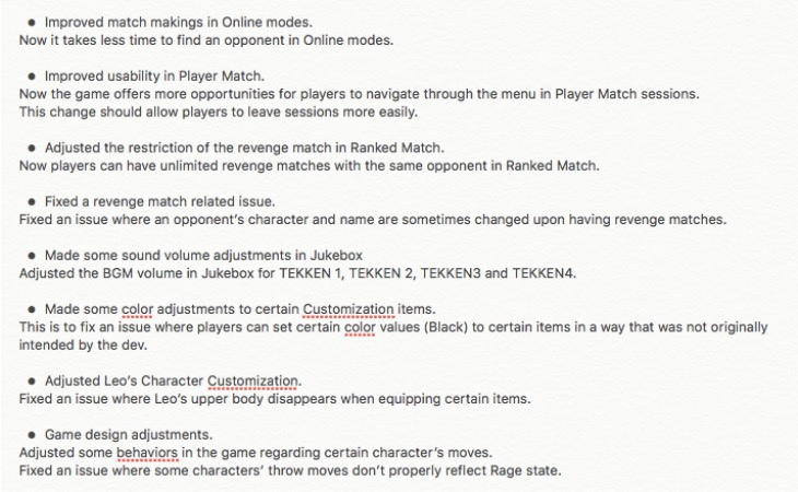 tekken-7-1.03-patch-notes-full
