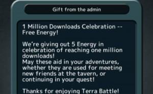 Terra Battle offers free energy for milestone