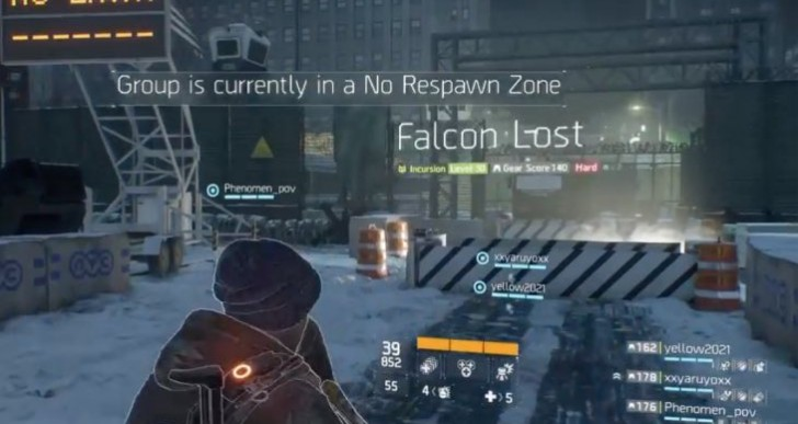 The Division No Respawn zone fix on Falcon Lost Incursion
