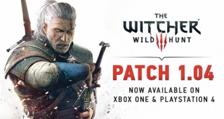 Witcher 3 1.04 patch notes for PS4, Xbox One live