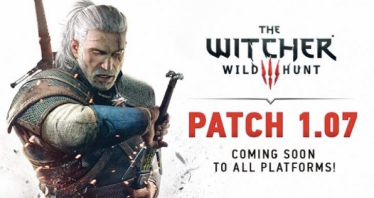 Witcher 3 1.07 patch notes on PS4, Xbox One, PC