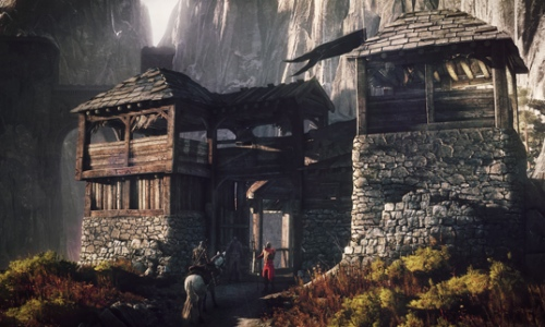 Beautiful environments like this one await you in The Witcher 3