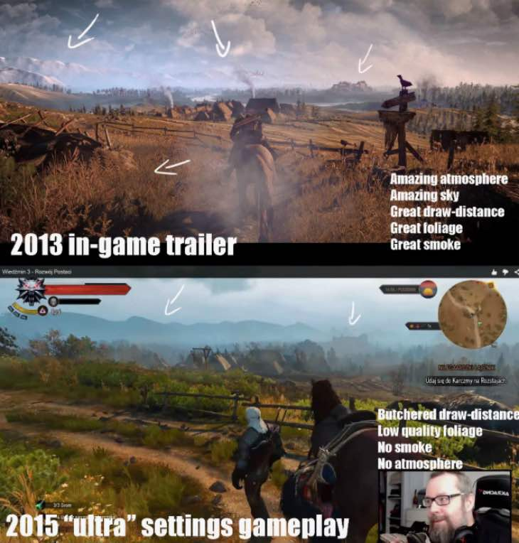 The Witcher 3 downgrade image won't deter gamers