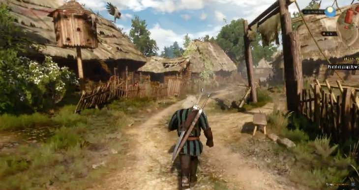 The Witcher 3 running directly on PS4