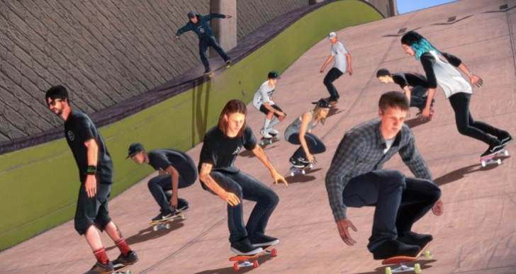 Tony Hawk's Pro Skater 5 graphics before Vs after