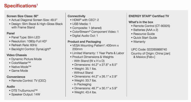 toshiba-50-inch-led-tv-spec-sheet