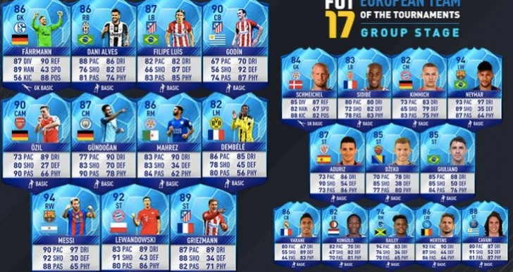 FIFA 17 TOTGS team live with surprise