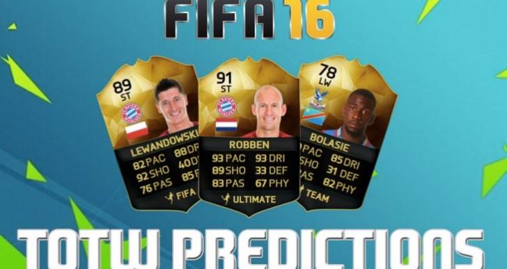 FIFA 16 TOTW 10 predictions with Lewandowski, Robben