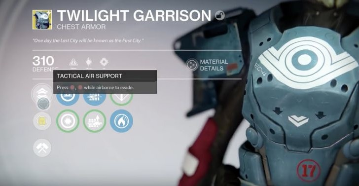 Destiny Twilight Garrison review on Tactical Air Support use