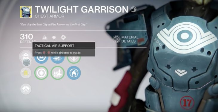 Destiny Twilight Garrison review on Tactical Air Support ...