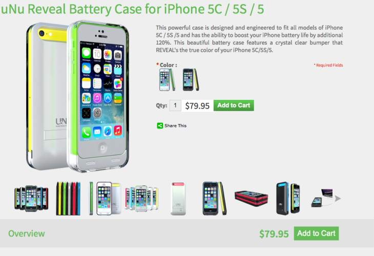 uNu DX wait for iPhone 6 protective battery case