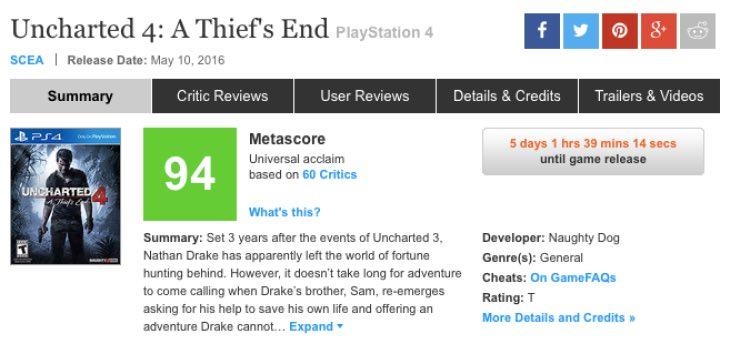 uncharted-4-metacritic-reviews
