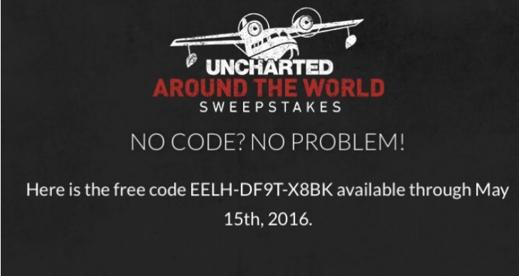Uncharted 4 Around the World codes for freebies