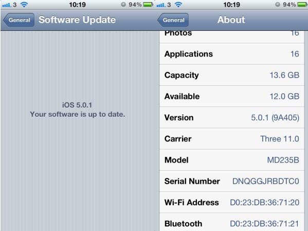 Iphone ios 5 0 1