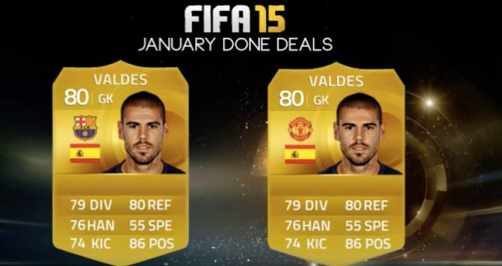 Victor Valdes Man United FUT card will never happen