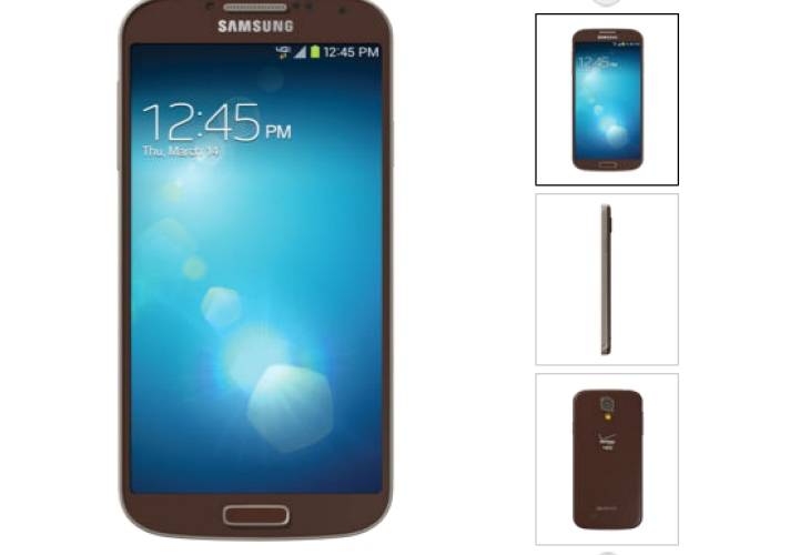 Samsung Galaxy S4 brown paint job live on Verizon