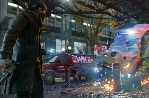 No choppers in Watch Dogs, but plenty of cars..