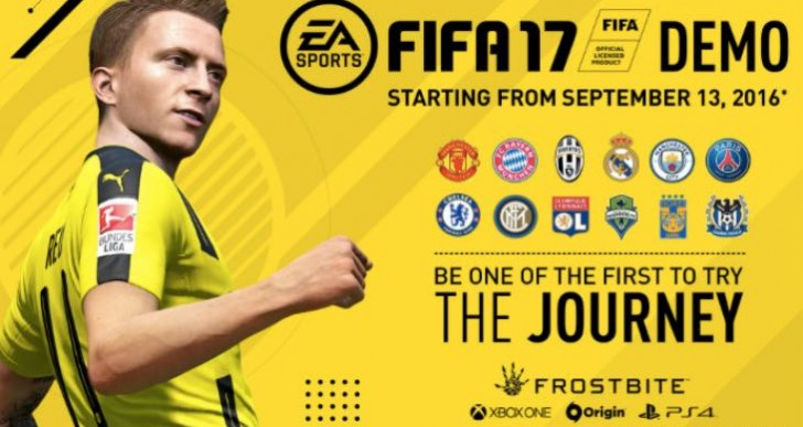 FIFA 17 demo release time for UK, US