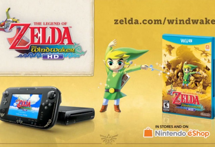 Wii U Zelda hardware with golden Triforce features