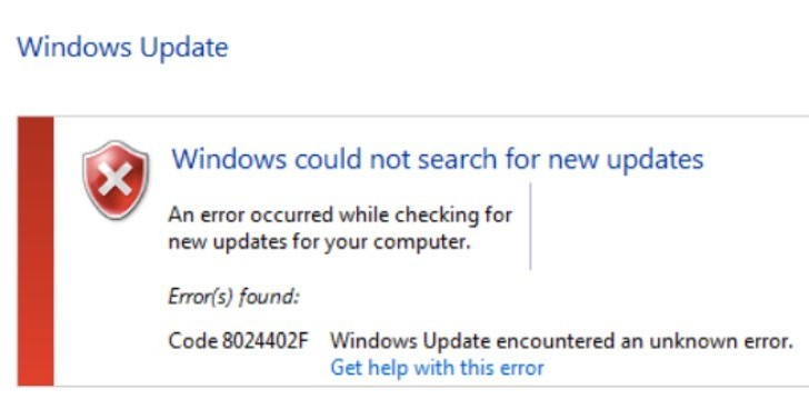 Windows update error 8024402f fix for Norton users