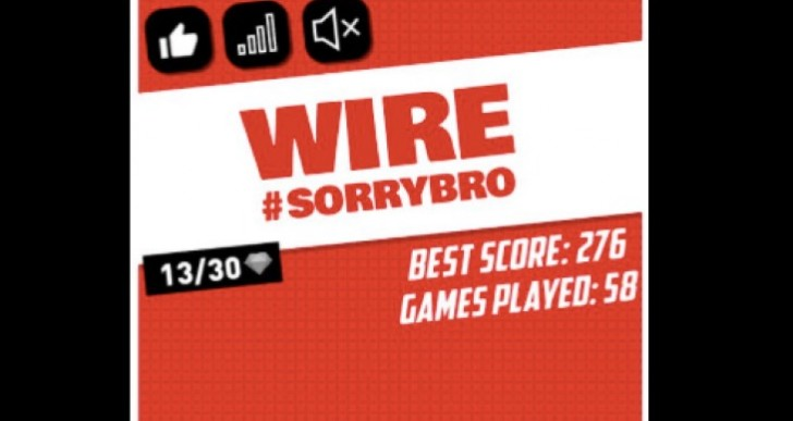 Wire game by Ben Phillips High Score record