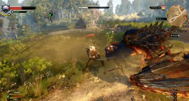The Witcher 3 Boss Fight Gameplay With Griffin Product