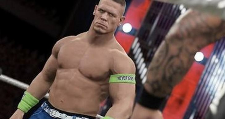 WWE 2K15 Vs 2K14 graphics for John Cena