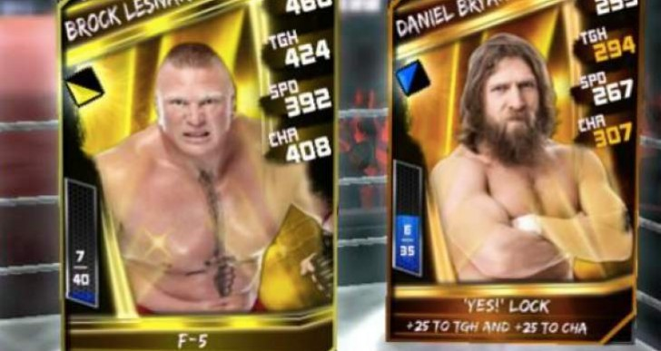 WWE Supercard Brock Lesnar Legendary spotted