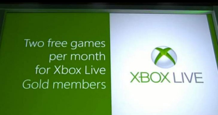 Xbox Games with Gold two games a month doubts