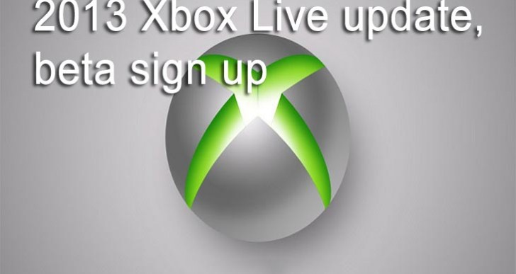 2013 Xbox Live update starts with beta sign up