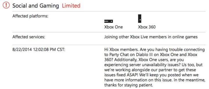 Xbox Live down today, Lizard Squad boasts