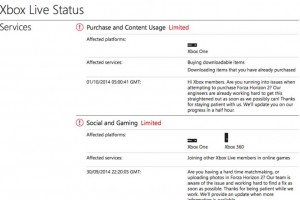 Xbox Live problems with users capturing servers down