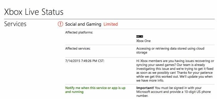 Xbox Live is down with data sync issues