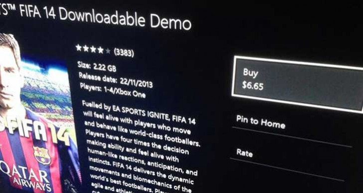 FIFA 14 demo joins EA UFC in cost error